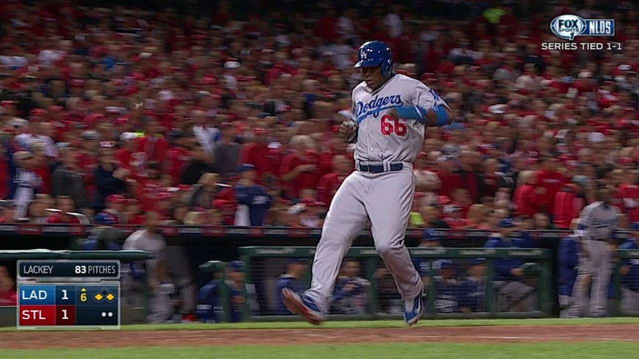 Puig hits key triple but struggles continue
