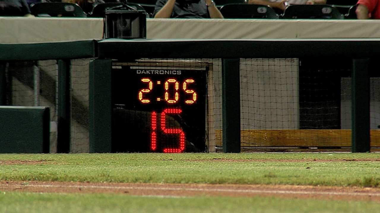 MLB tests out time-saving measures in AFL