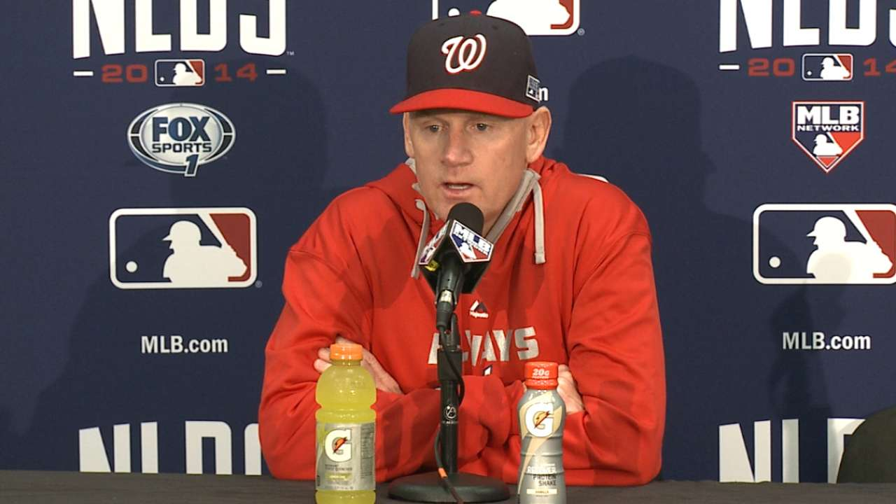 Oct. 7 Matt Williams postgame interview