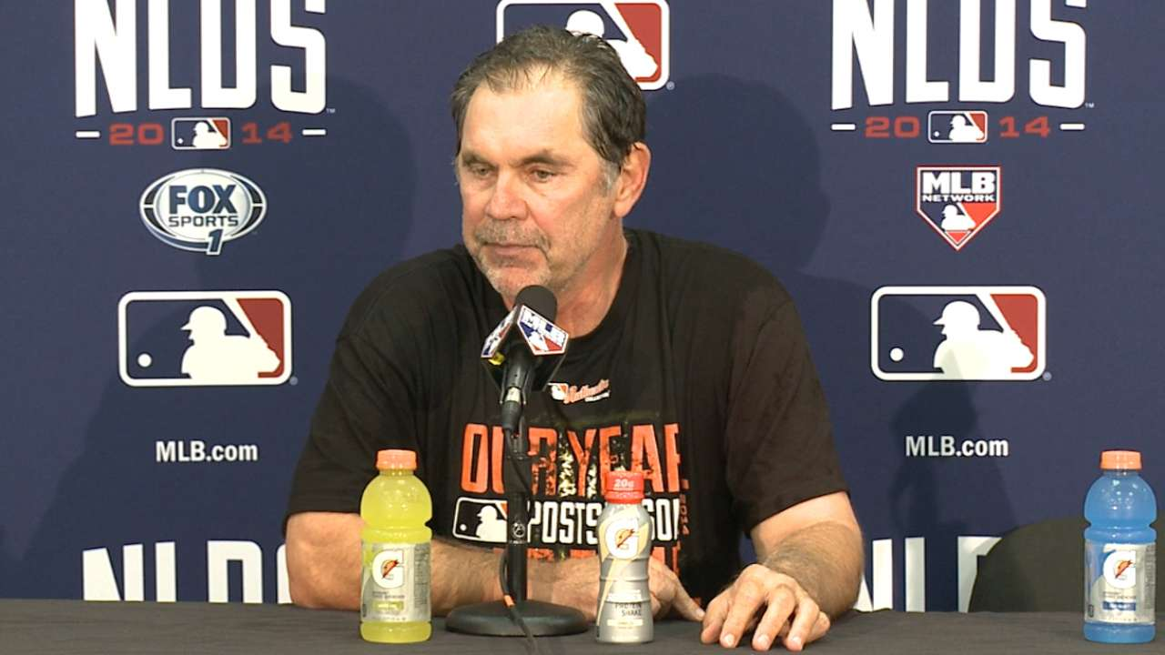 Oct. 7 Bruce Bochy postgame interview