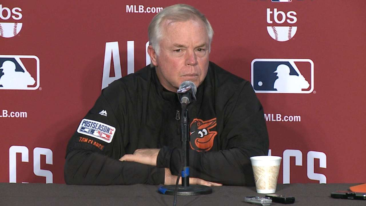 Man with a plan: Buck on top of everything for O's