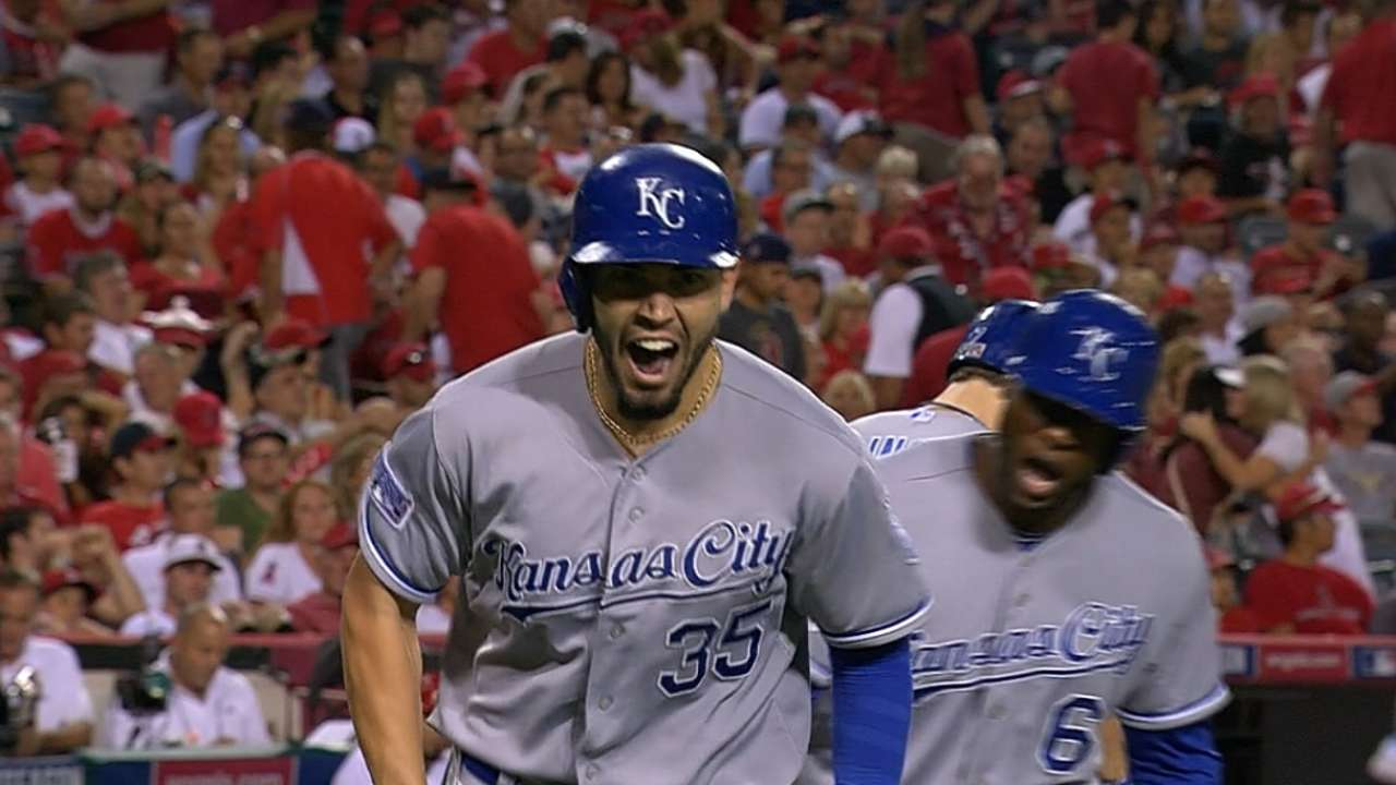 Oct. 10, Moustakas, Hosmer ALCS Game 1 interview