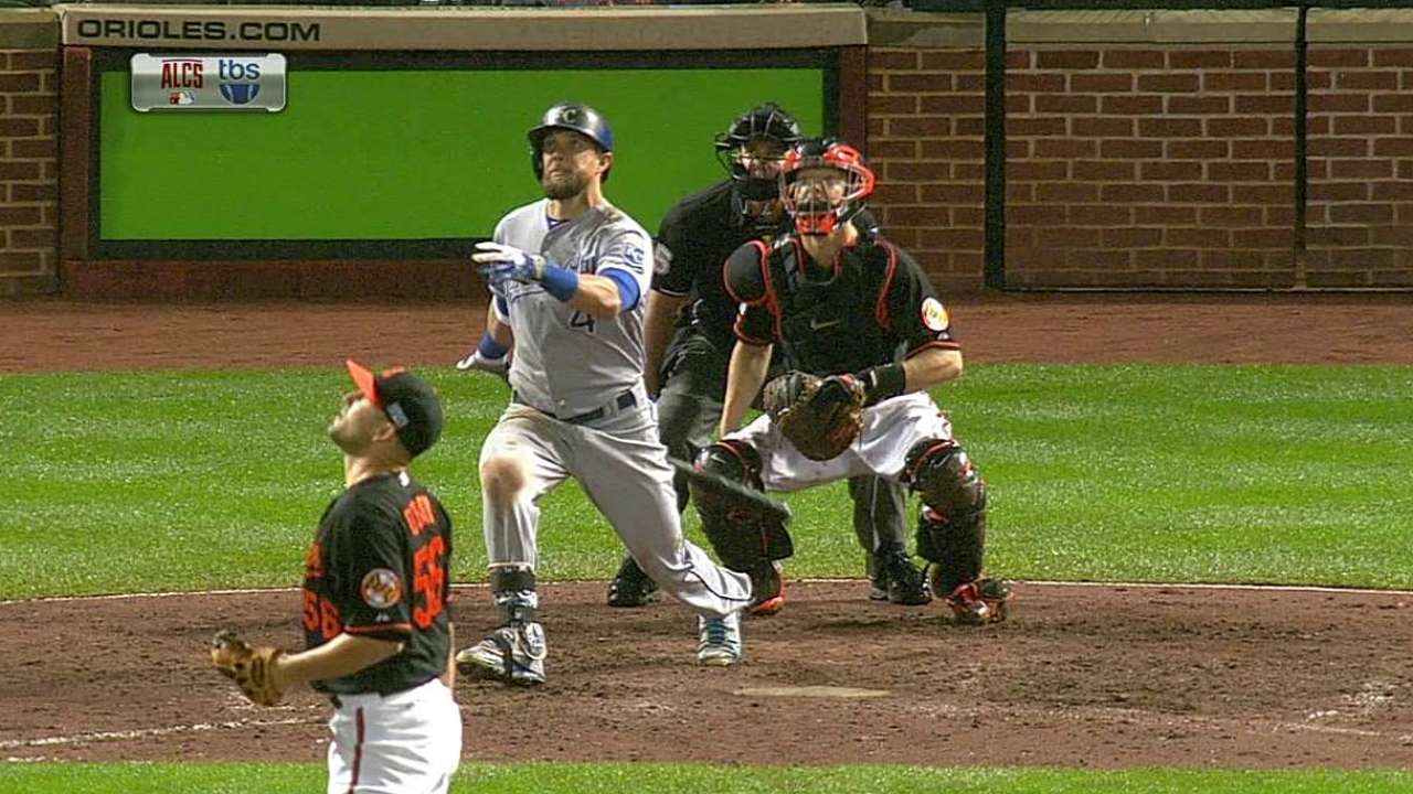 Royals able to flip power script to burn Orioles