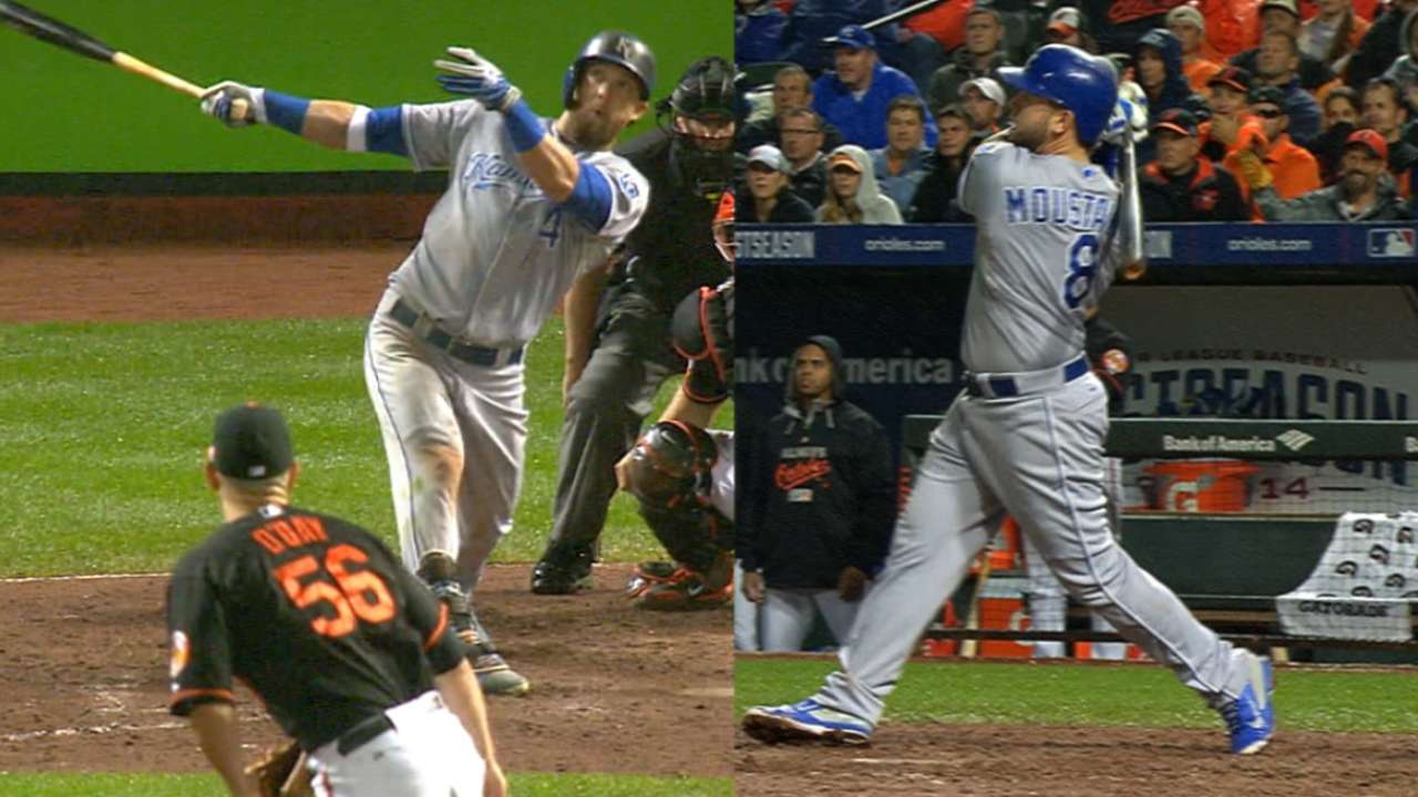 Royals' extra power & might edge Orioles