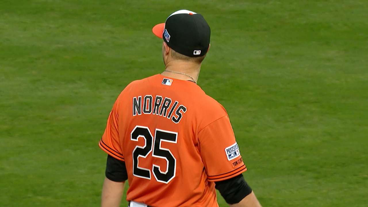 Norris pitches into the 5th