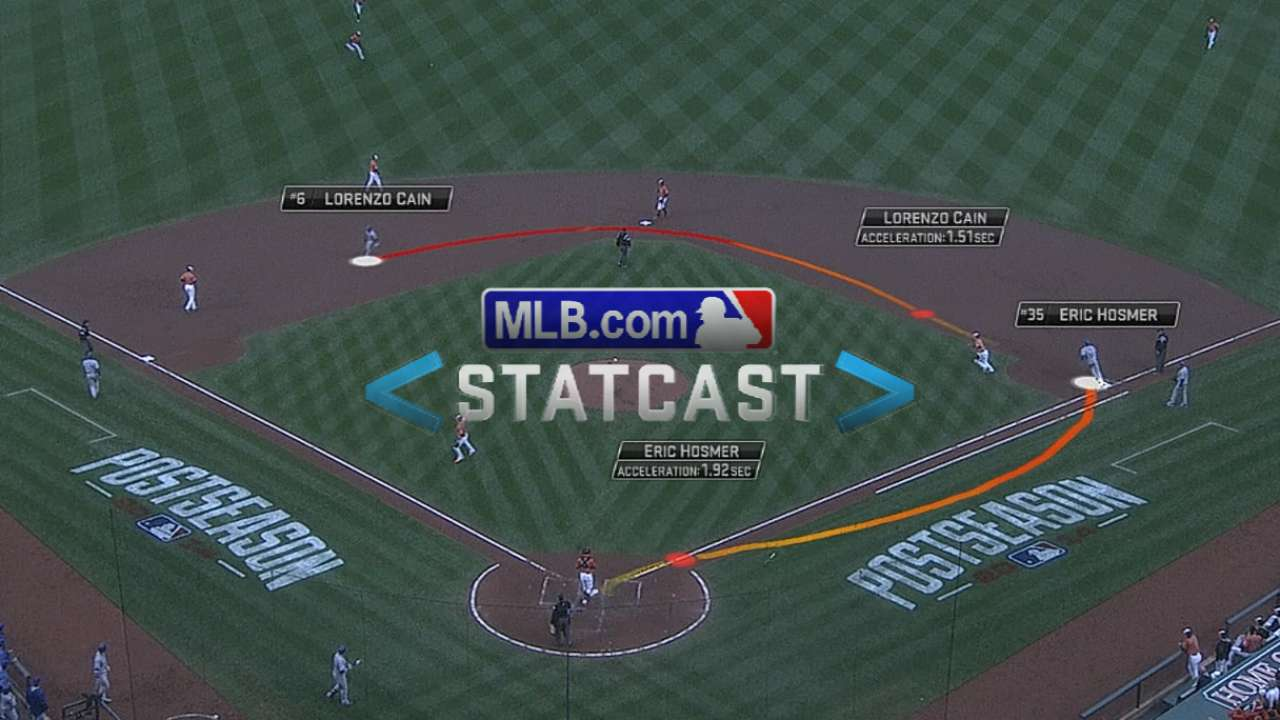 Statcast: Cain hustles to third