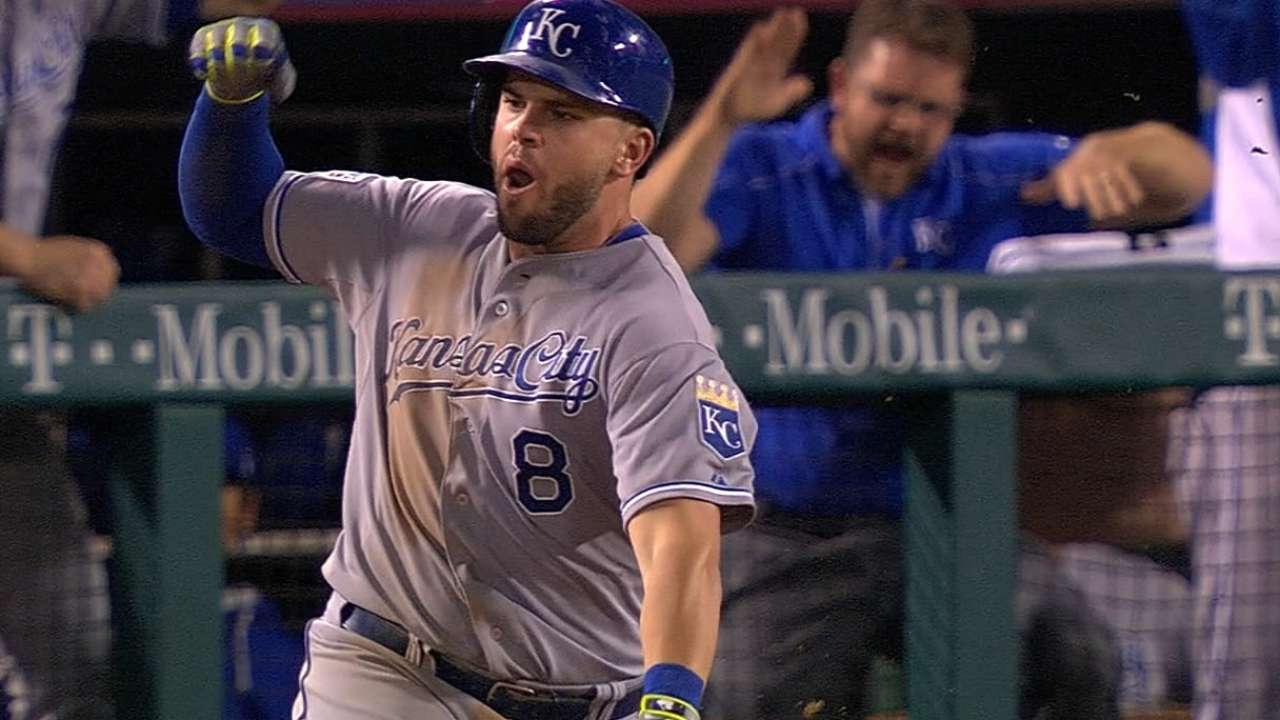 Moose breaking free for Royals in postseason
