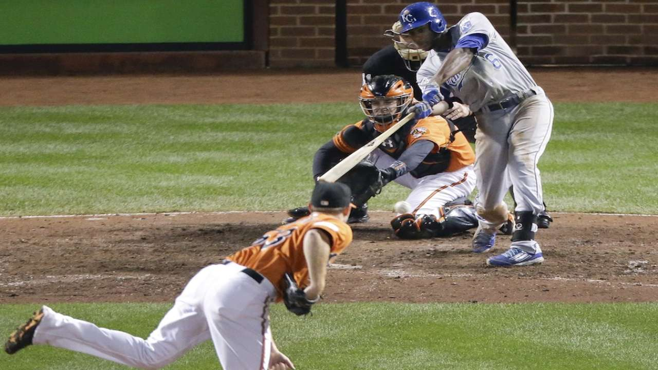 Oct. 11 Lorenzo Cain and Alcides Escobar postgame interview