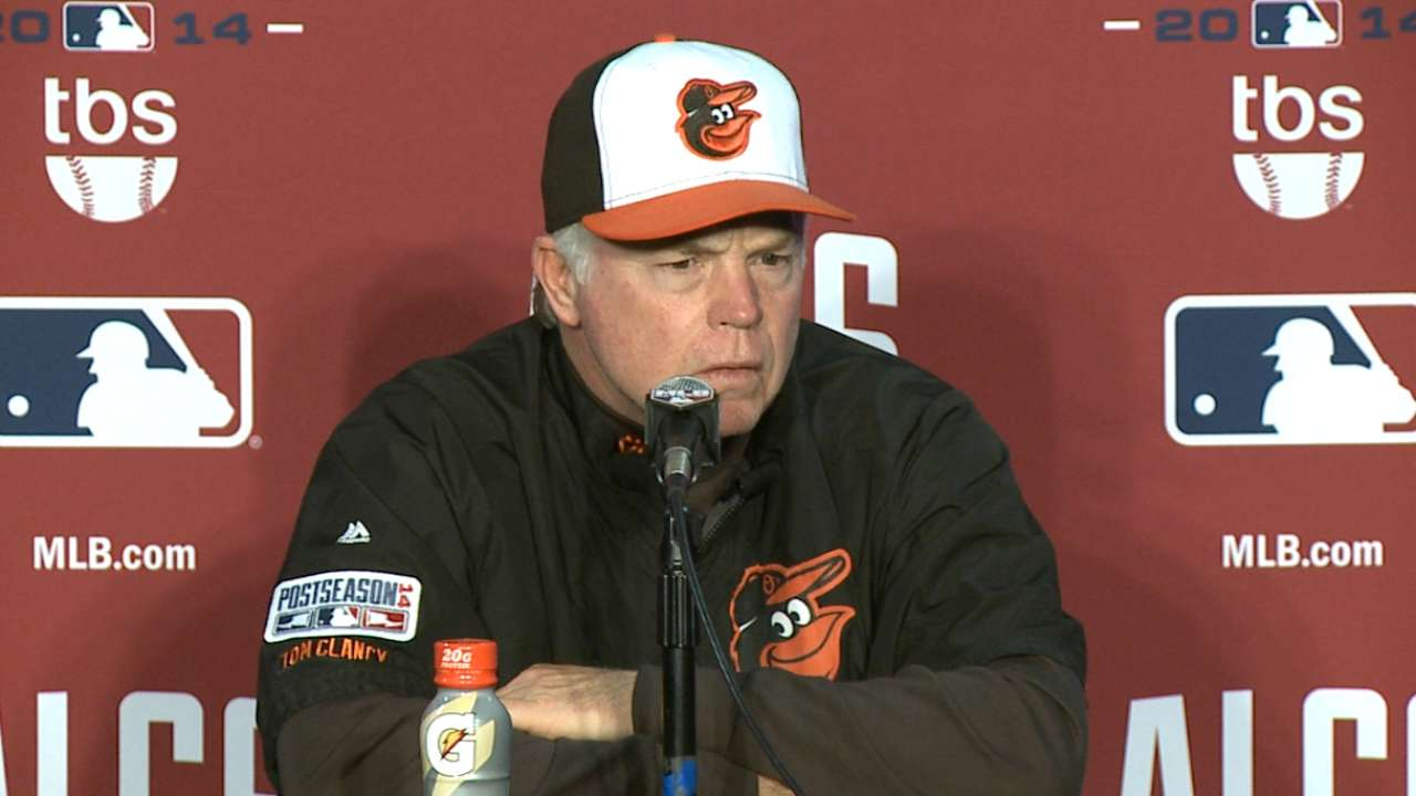 Orioles fall late, down two games in ALCS