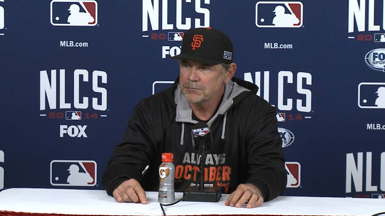 Oct. 12 Bruce Bochy Game 2 pregame interview
