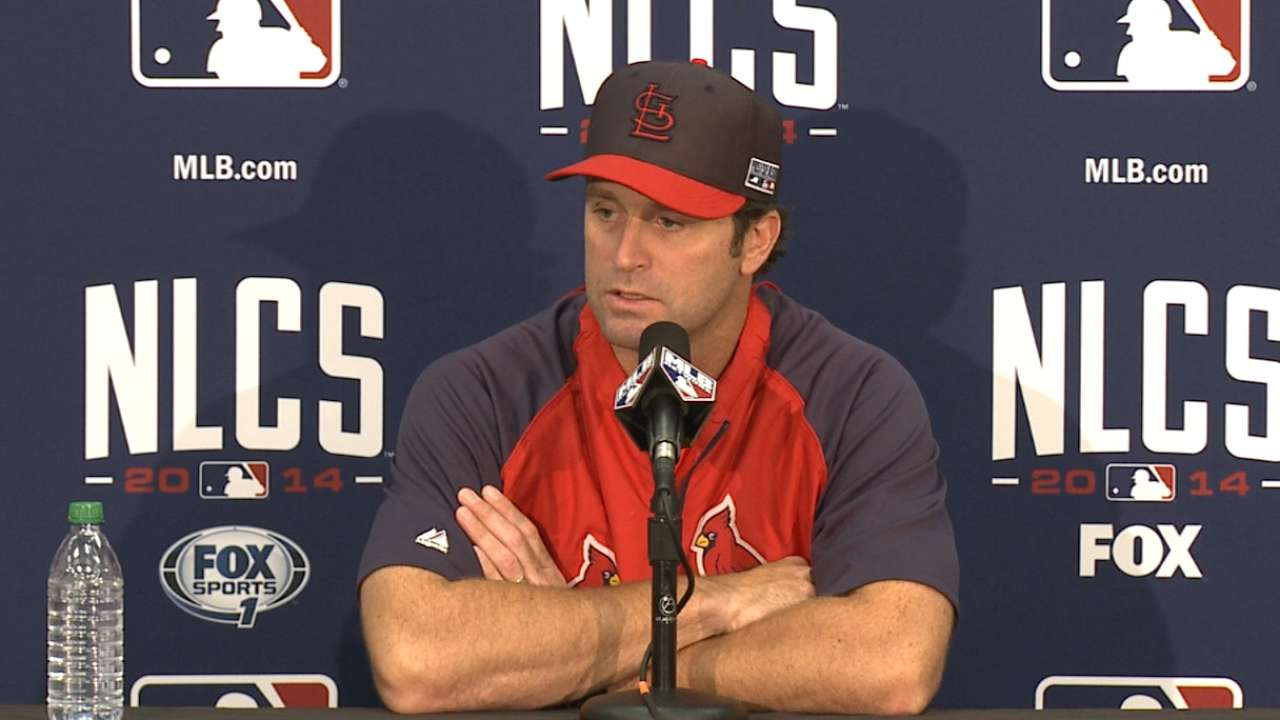 Oct. 14 Mike Matheny pregame interview