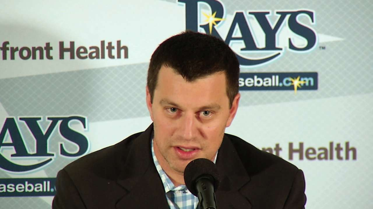 Rays reorganize front office