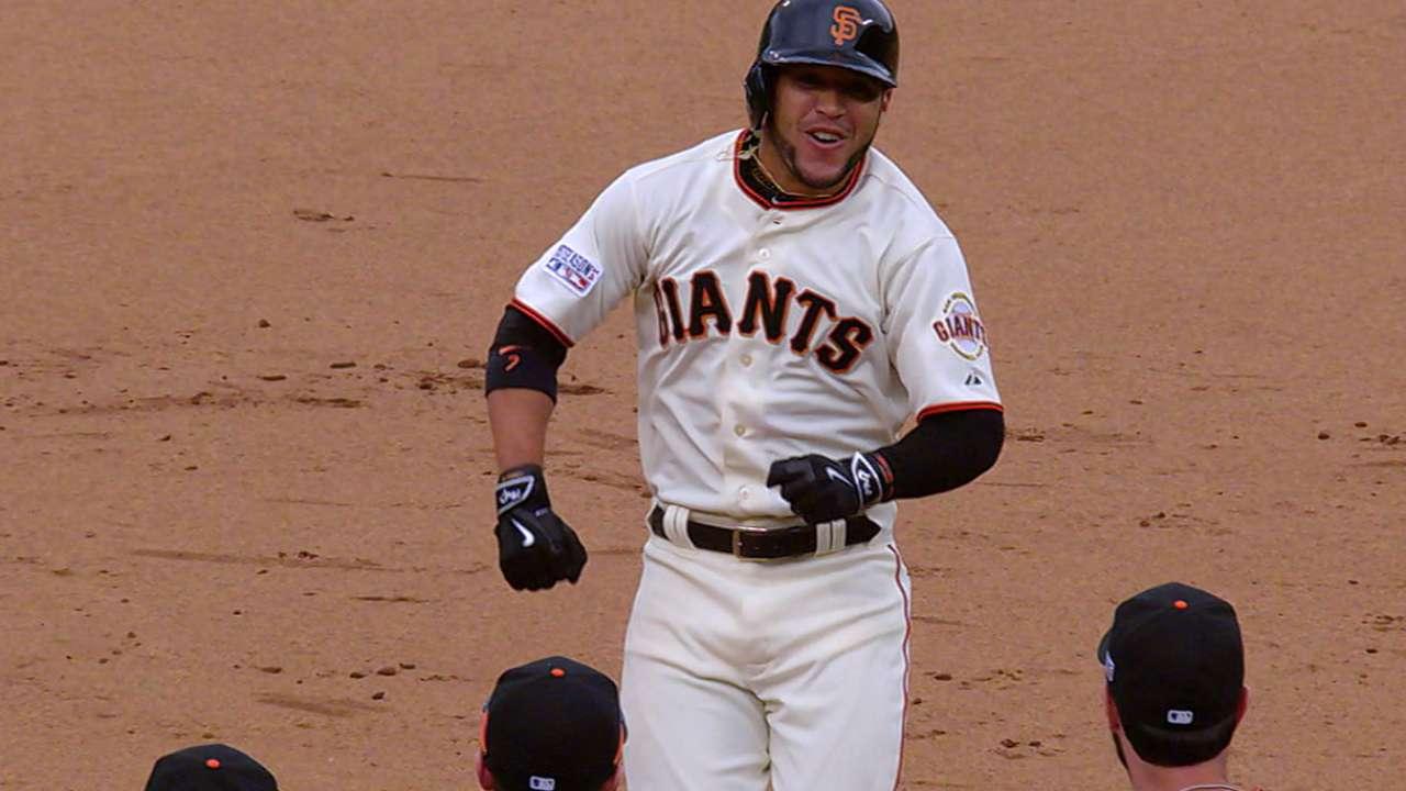 Giants' formidable four help 'pen winning script