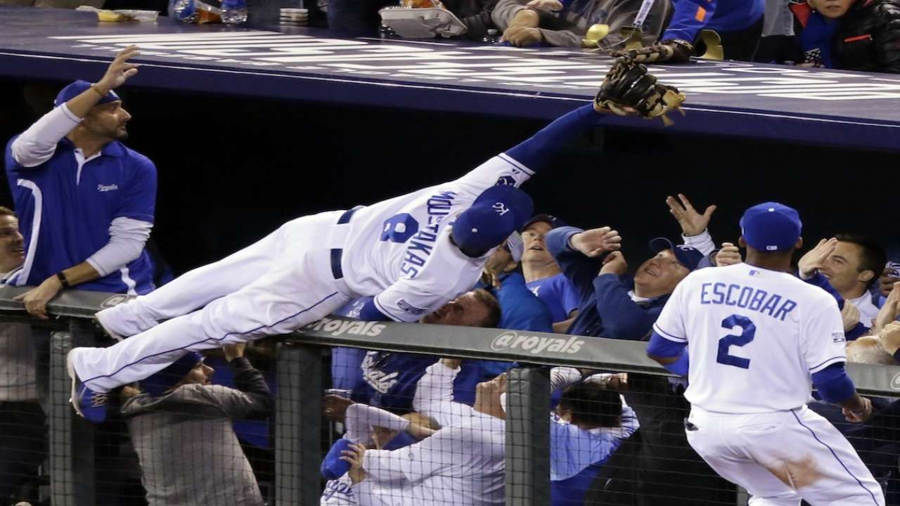 Oct. 14 Guthrie, Moustakas postgame interviews