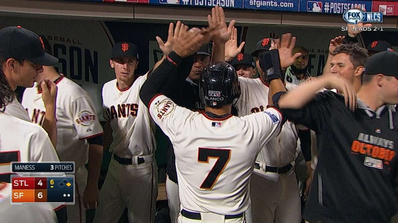 Giants scratch out three in 6th