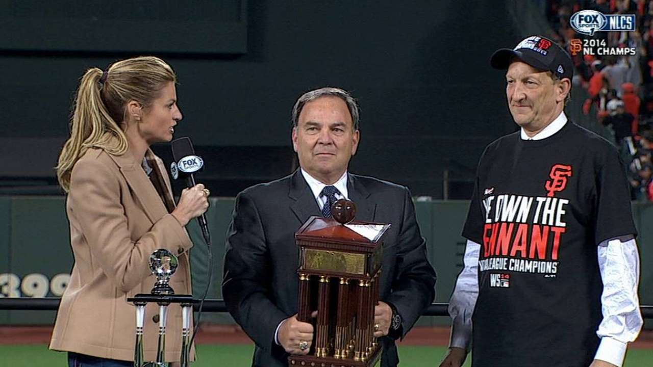 Baer presented with NLCS Trophy