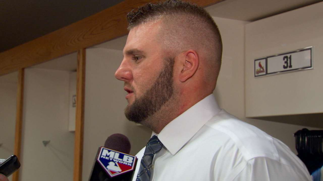 Adams on homer, loss in NLCS