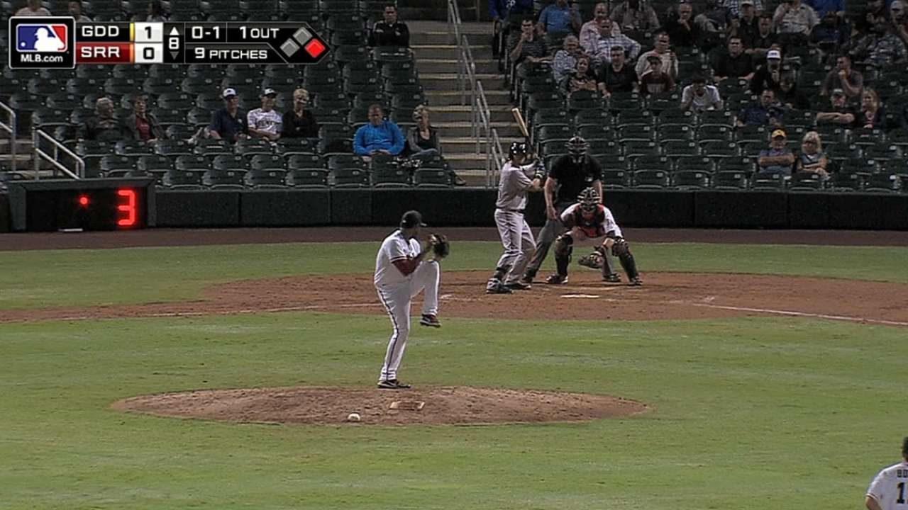 Young reliever Burgos seeing advanced hitters in AFL