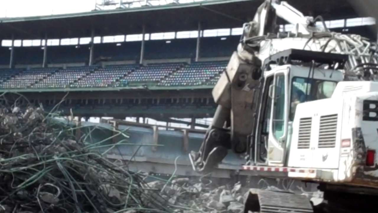 Crews begin bleacher, infrastructure improvements