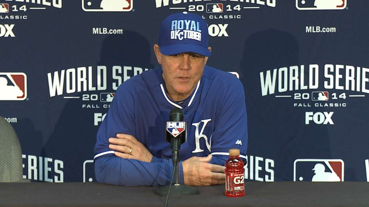 Oct. 20 Ned Yost workout day interview