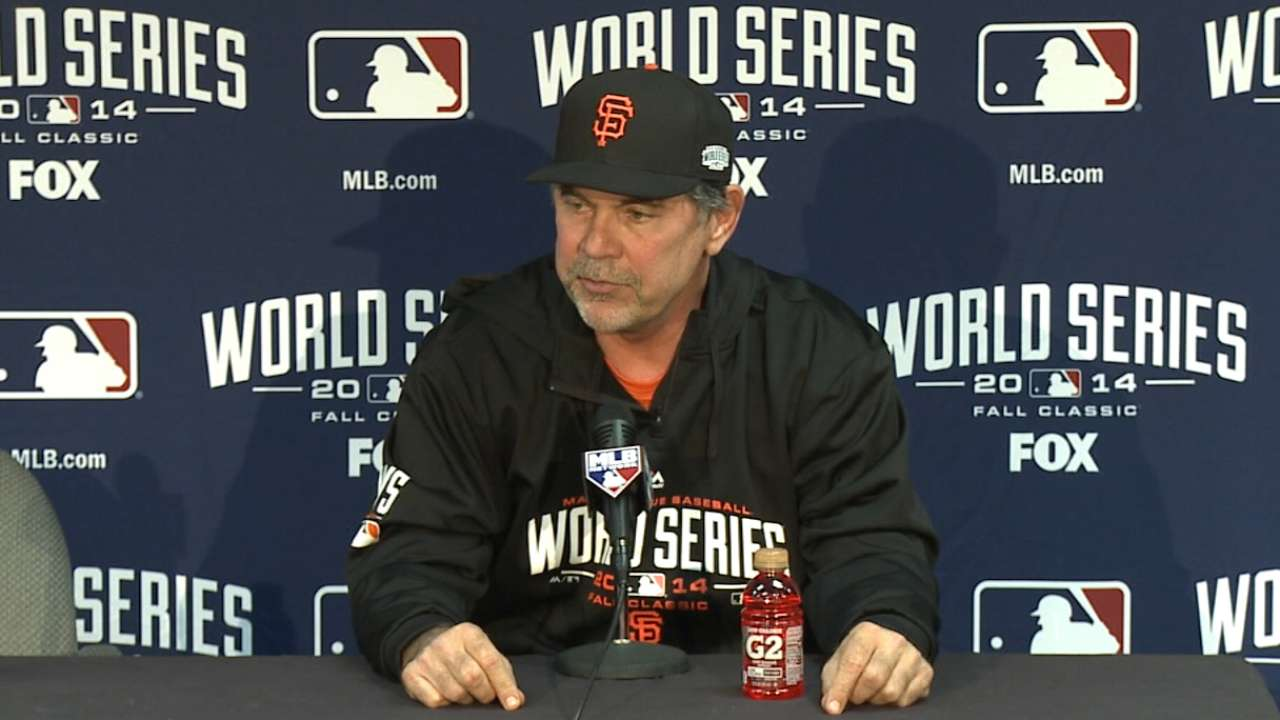 Bochy on Peavy's leadership