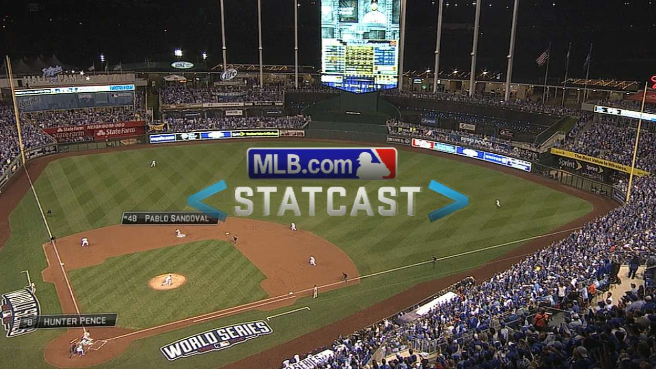 Statcast: Pence homers in 1st