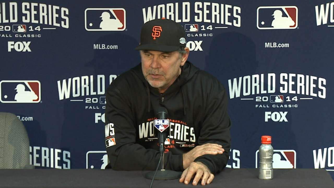 Bochy on 7-1 win in Game 1