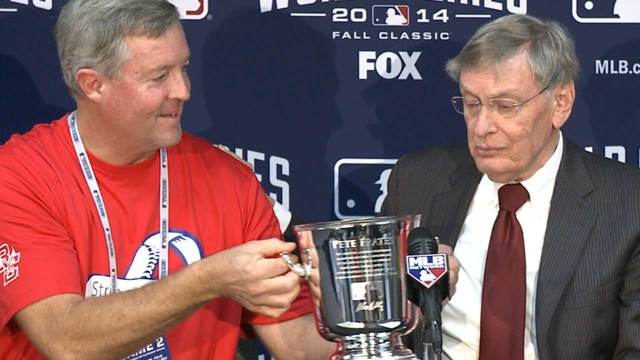 Oct. 22 Selig, Frates family pregame interview