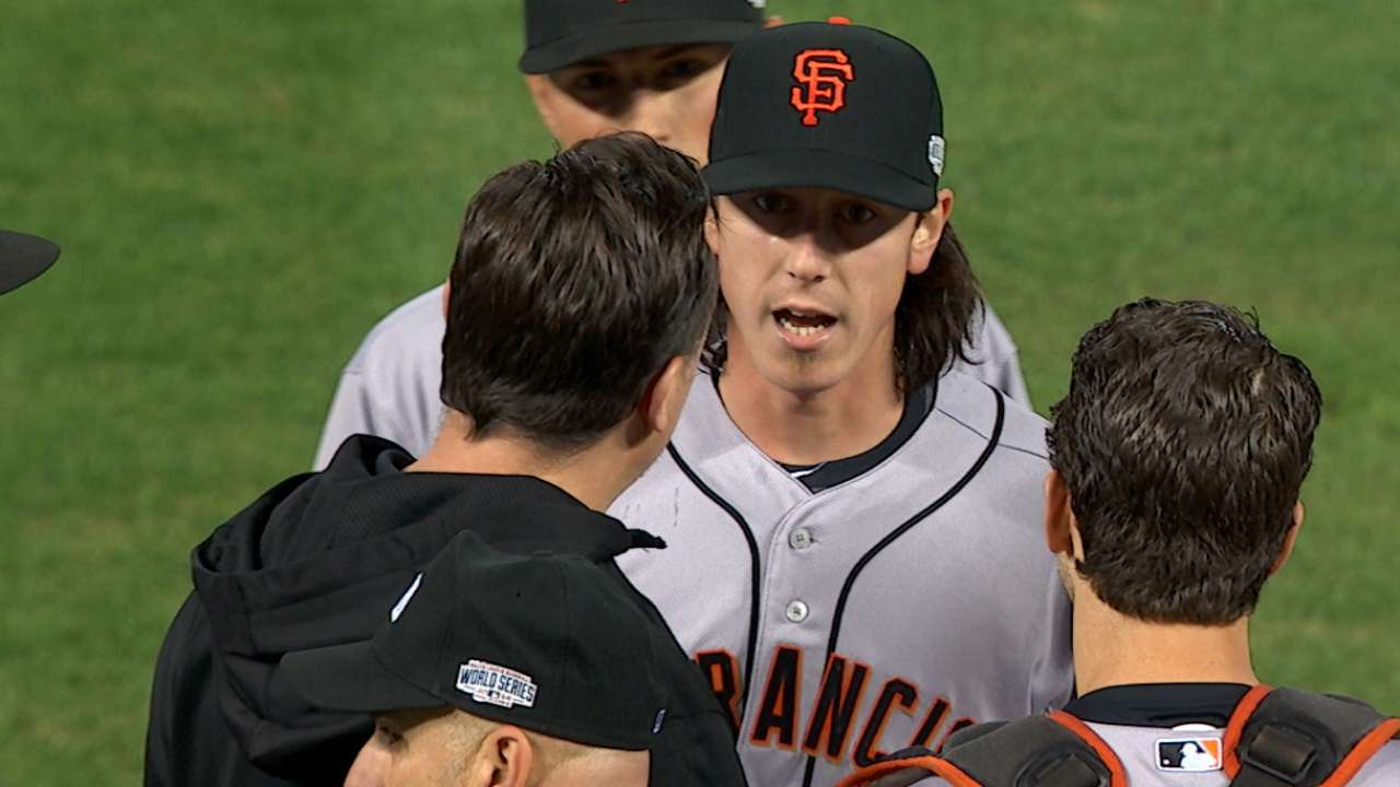 Bochy on Lincecum leaving game