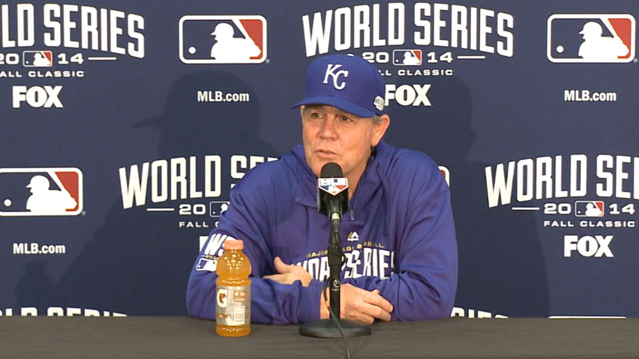 Oct. 23 Ned Yost workout day interview