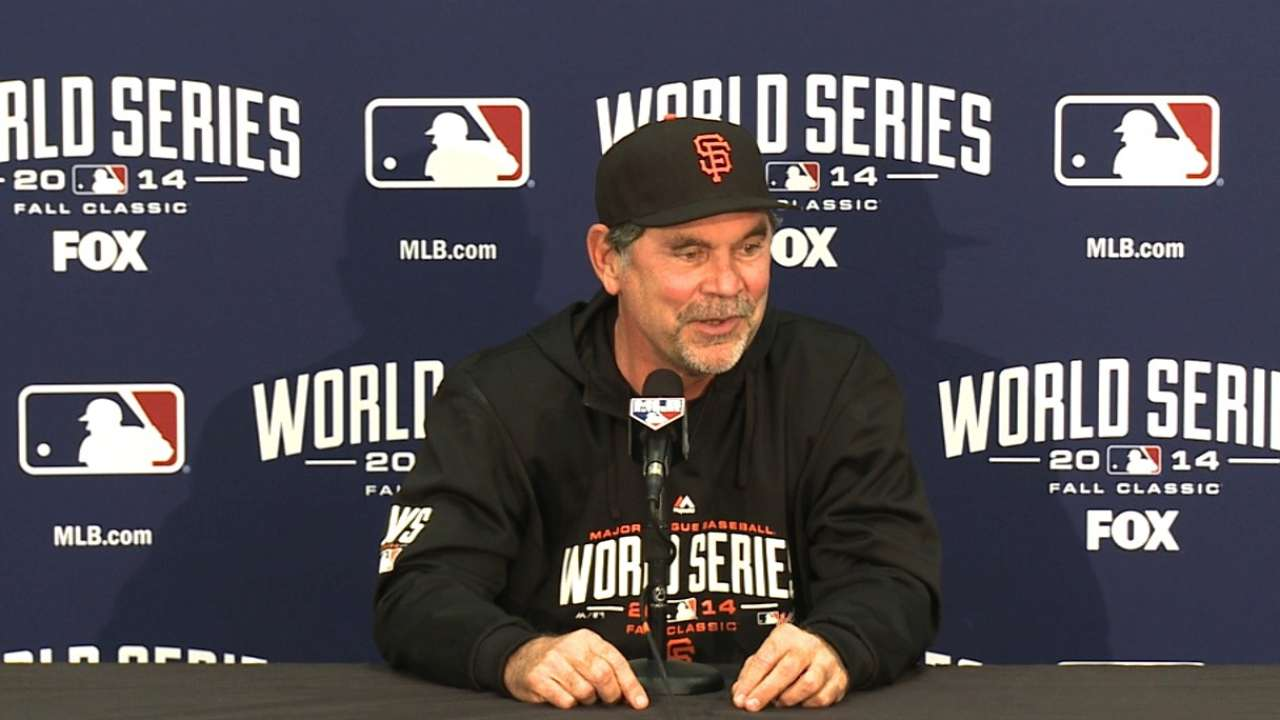 Oct. 23 Bruce Bochy workout day interview