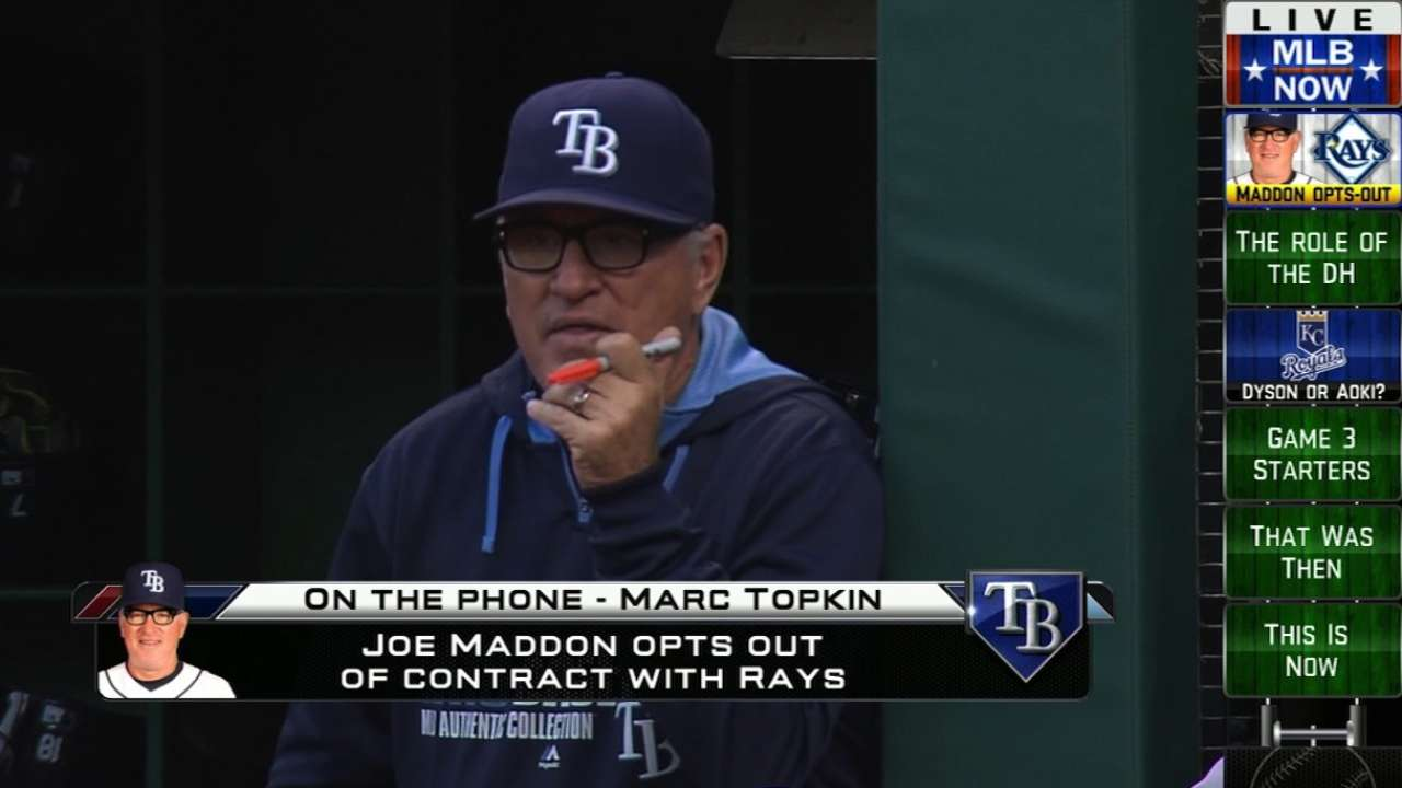 MLB Now: Maddon Opts Out