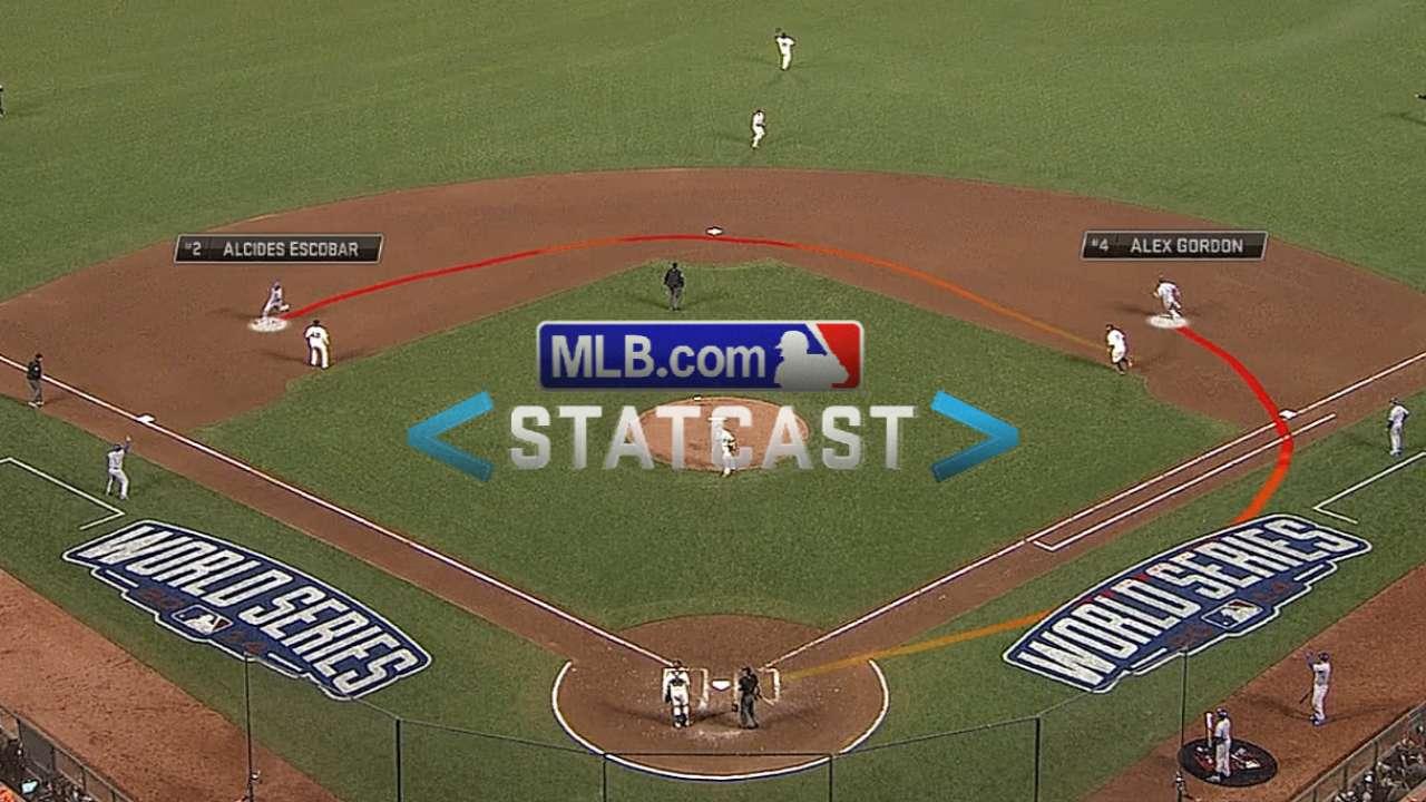 Statcast: Escobar scores