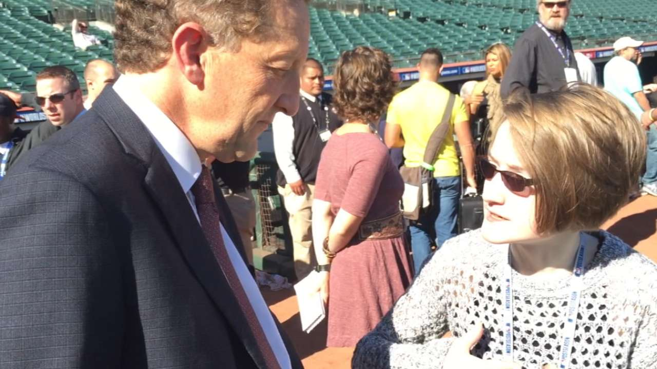 Meggie chats with Larry Baer
