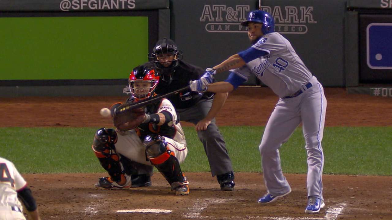 Herrera's first MLB at-bat comes in World Series