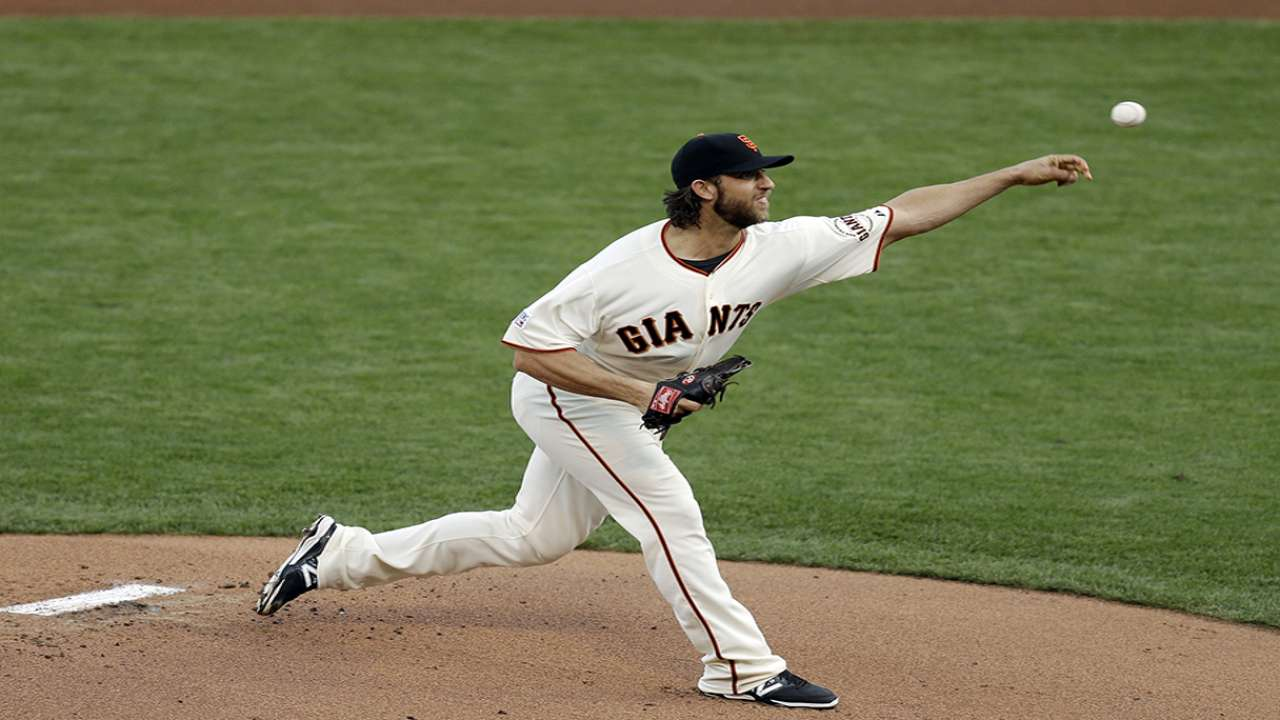 Bumgarner on focus, Game 5 start