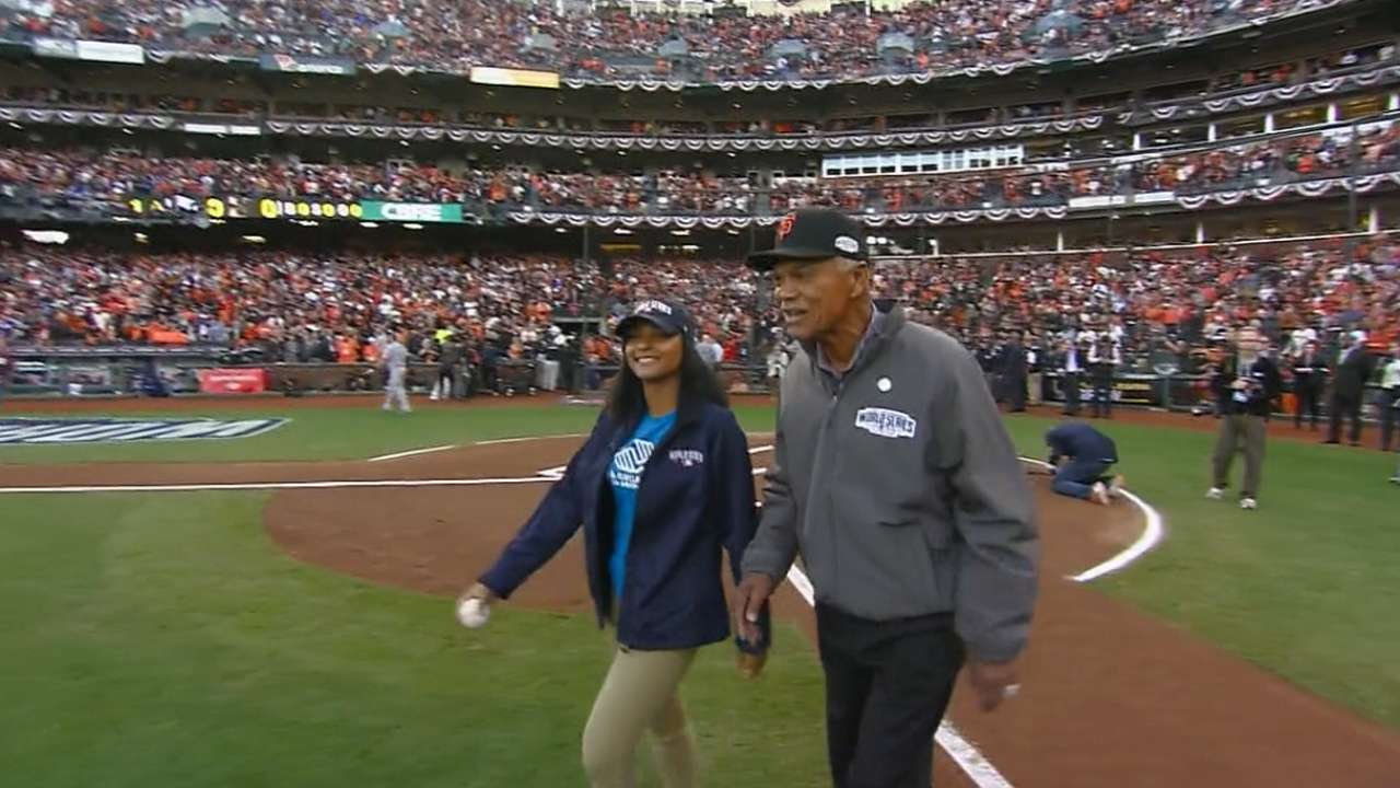 Alou helps deliver game ball