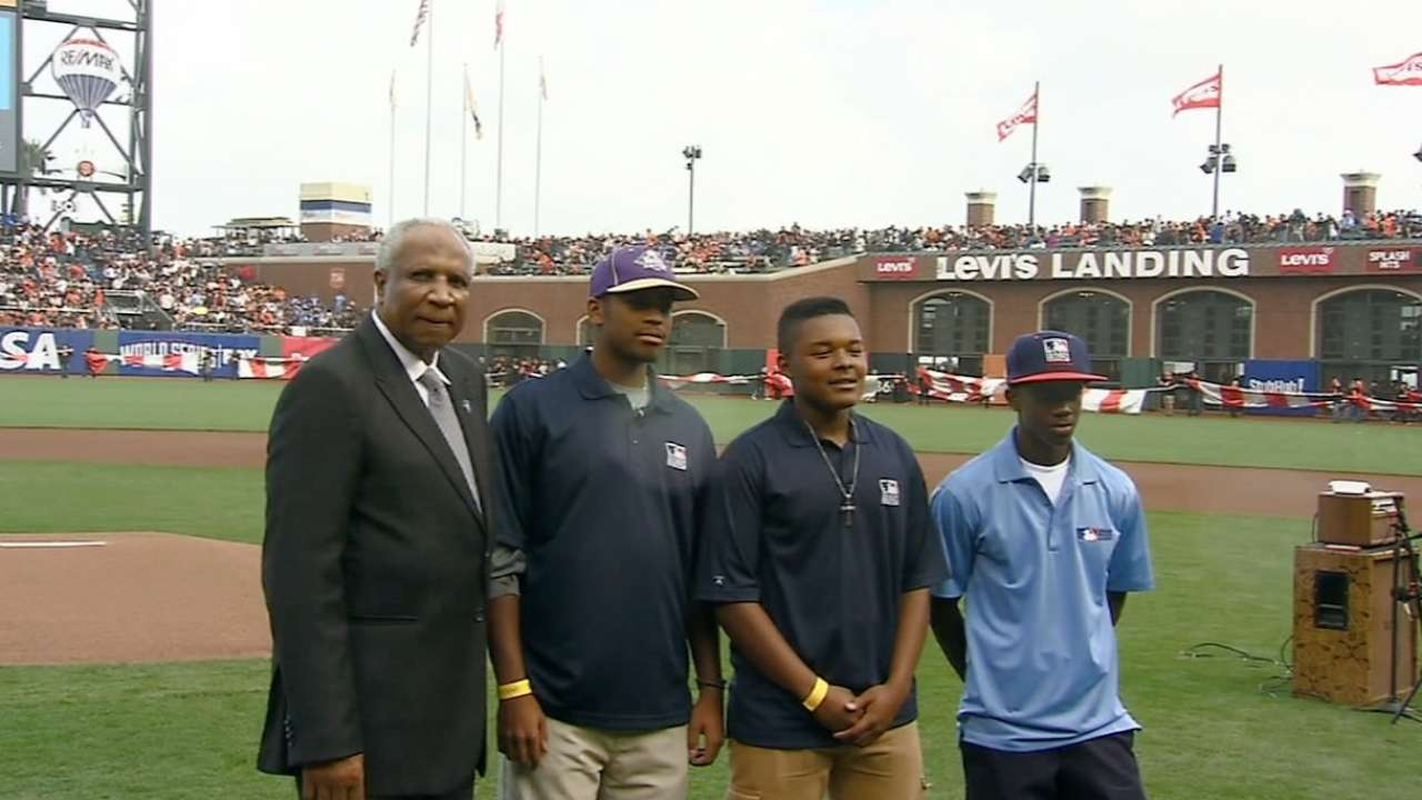 MLB UYAs recognized before game