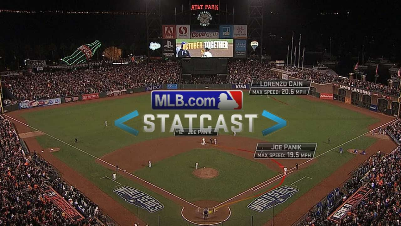 Statcast: Cain hustles to ball