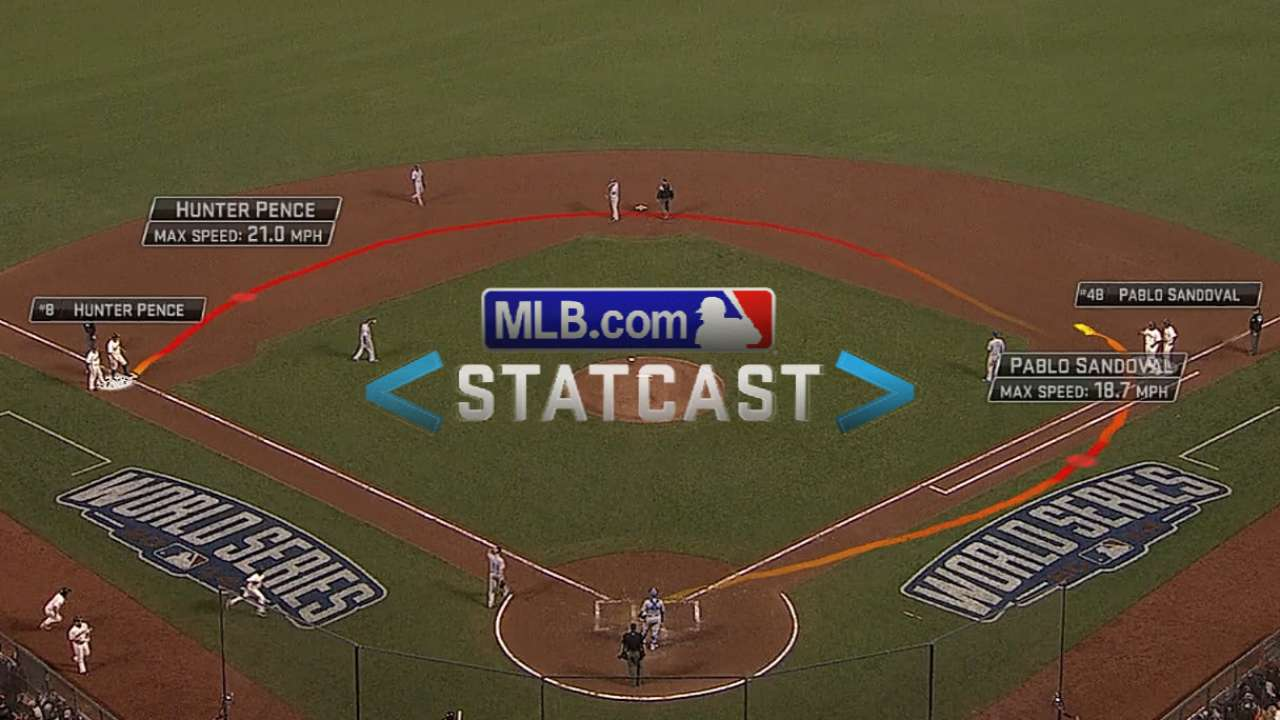 Statcast: Pence hustles to third