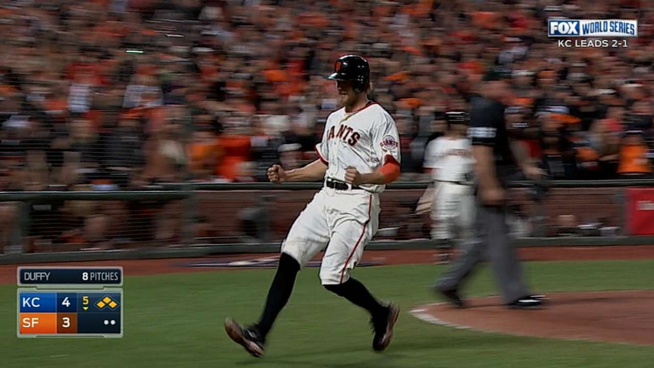 Giants tie it with two in 5th