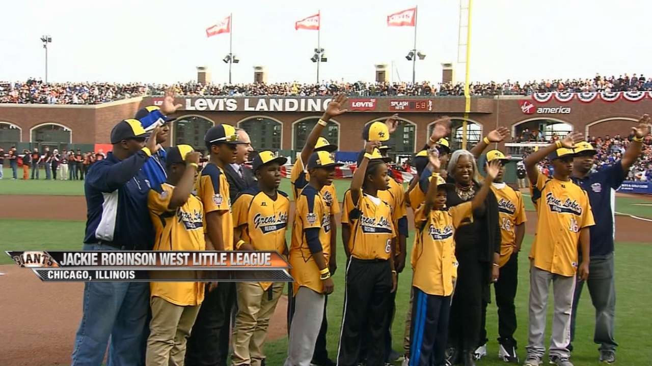 MLB celebrates youth baseball