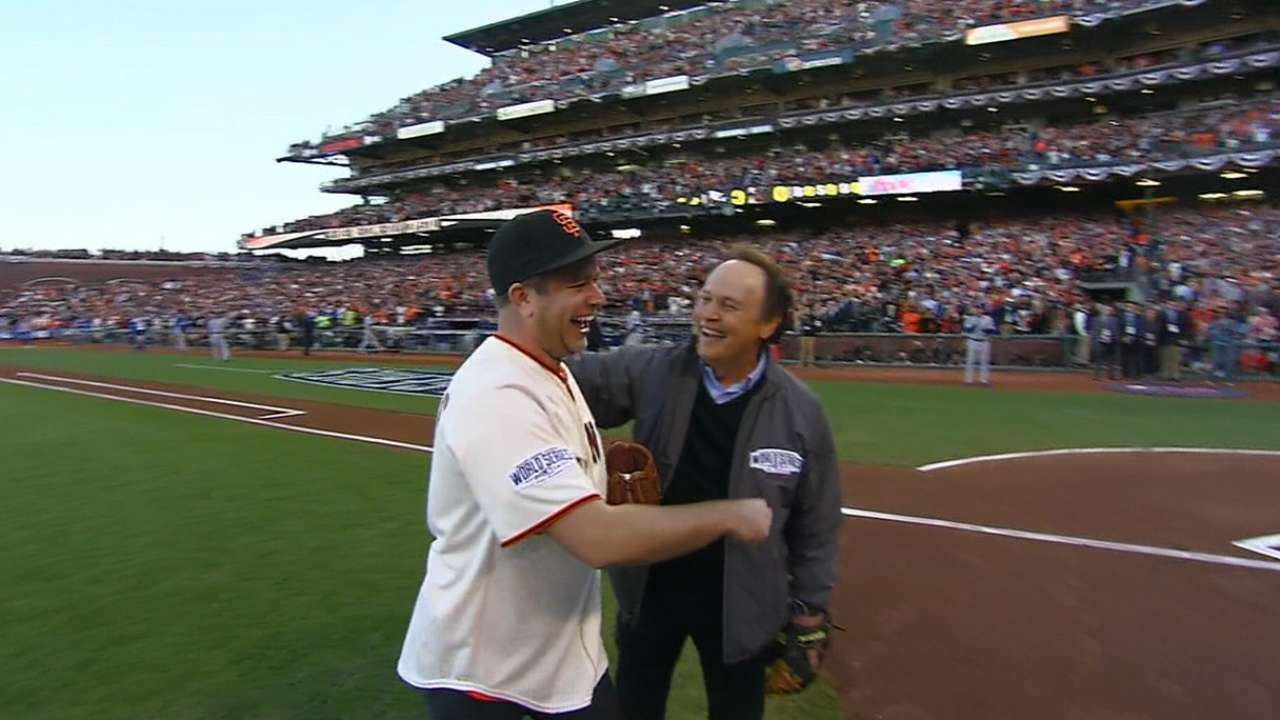 In tribute to Williams, late actor's children throw first pitch