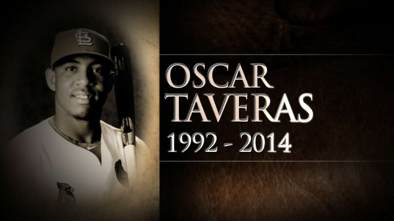 Cardinals teammates remember Taveras