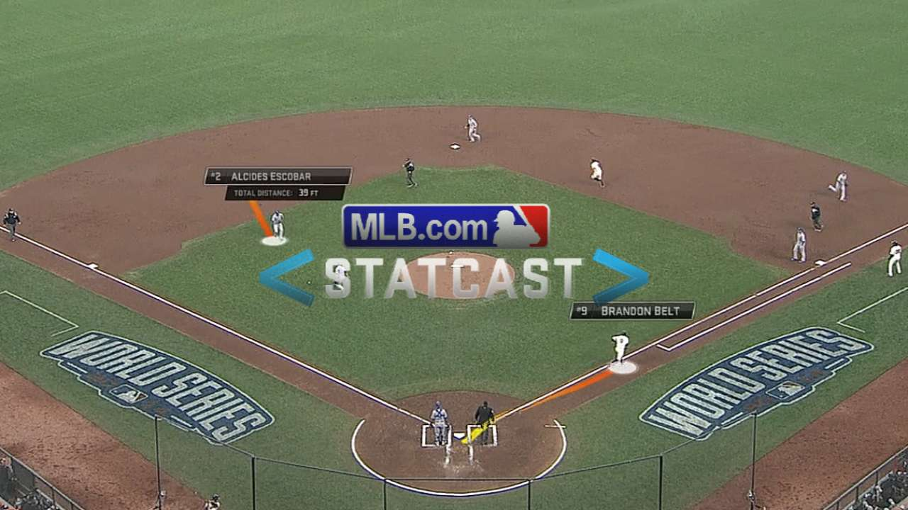 Statcast: Belt legs out bunt