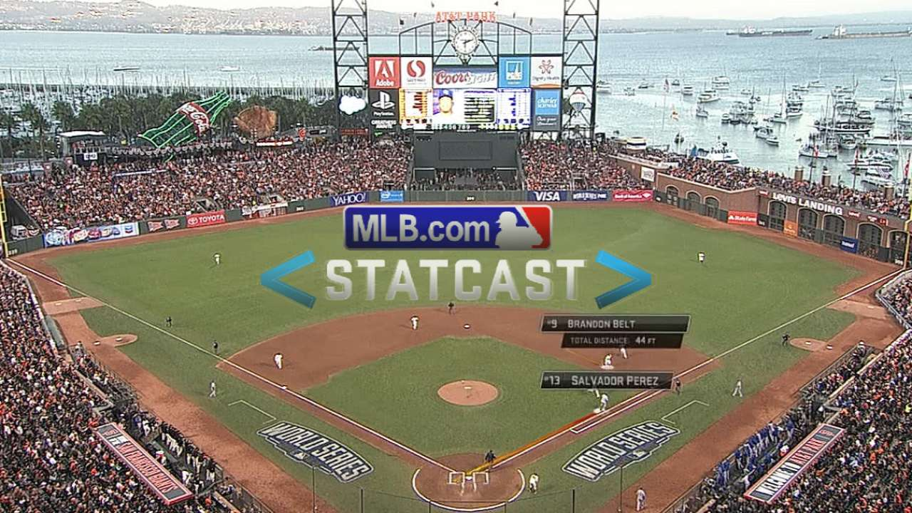 Statcast: Belt races to first