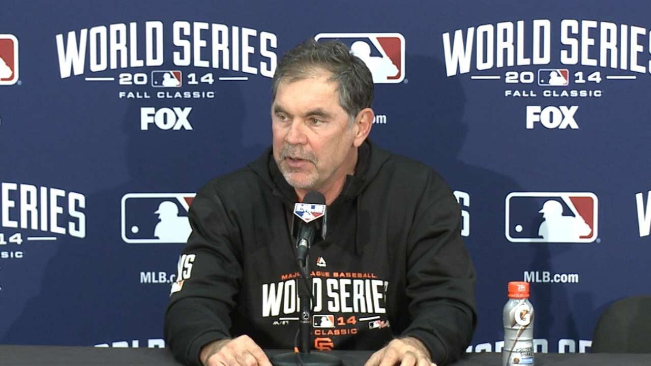Oct. 26 Bruce Bochy interview