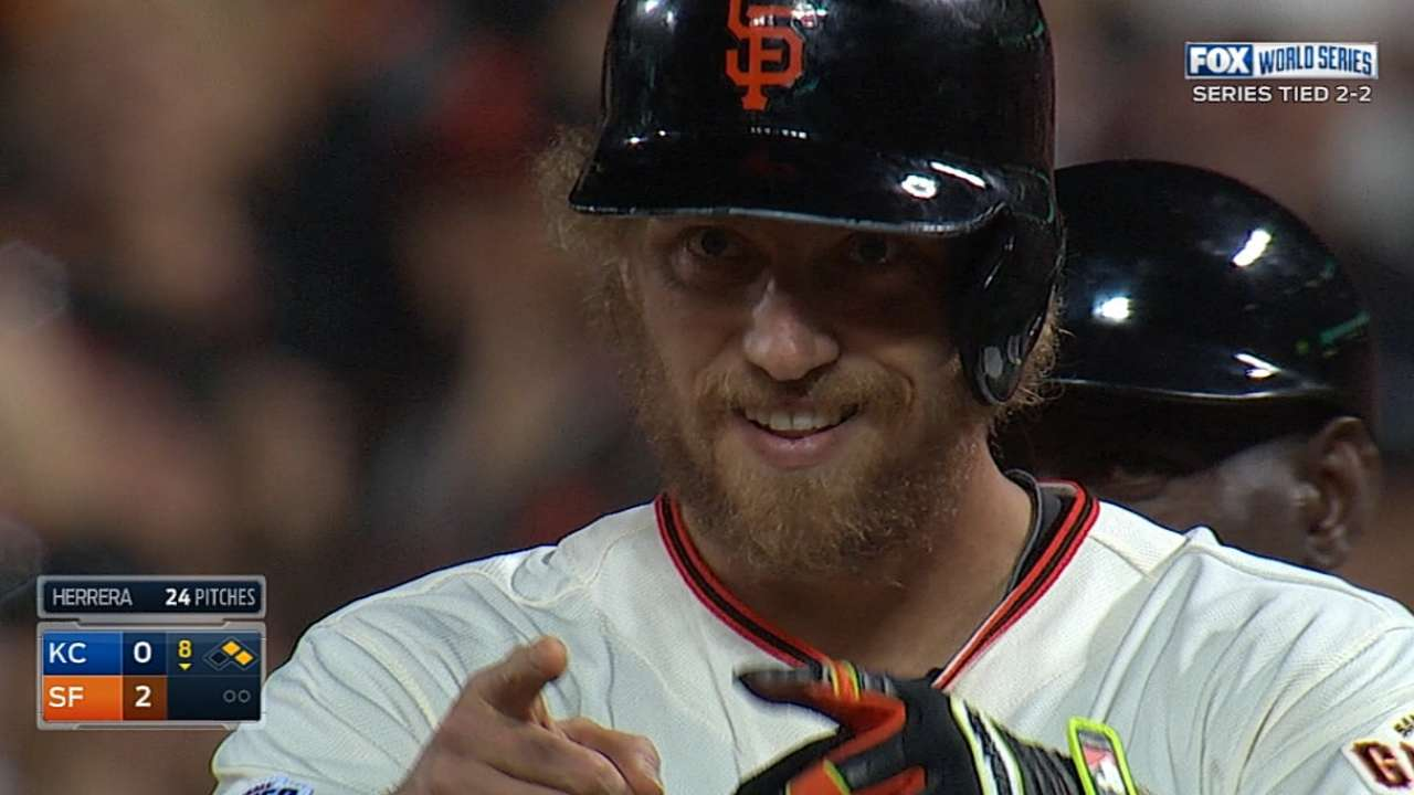 Giants score three in the 8th