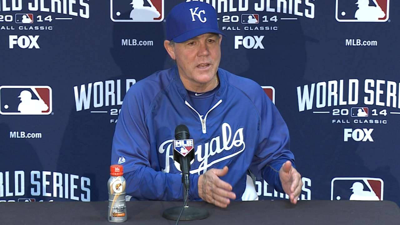 Oct. 27 Ned Yost workout day interview