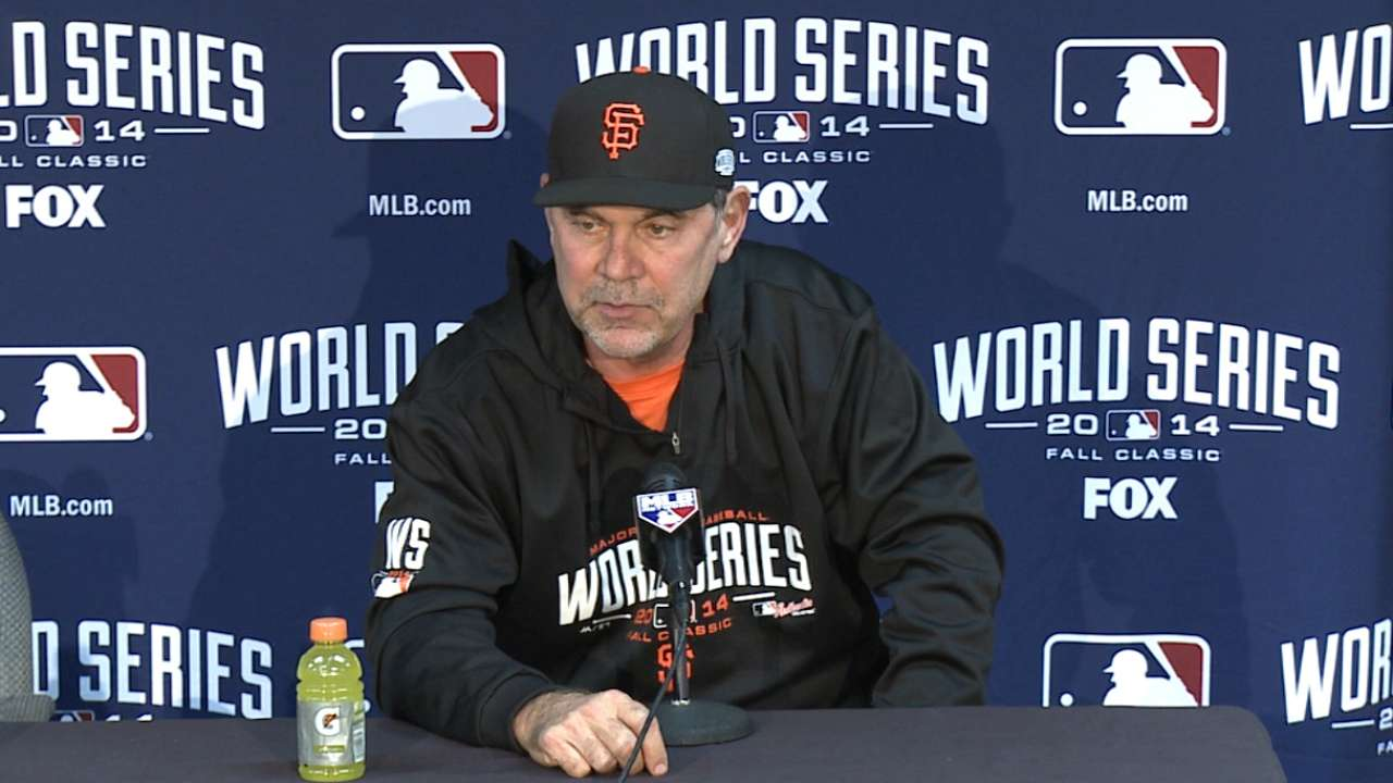 Bochy on success with Giants